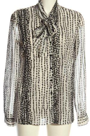 Armani Exchange Hemd-Bluse weiß-schwarz grafisches Muster Casual-Look