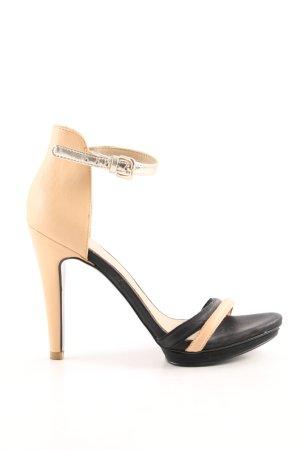 Armani Exchange High Heels nude-schwarz Casual-Look