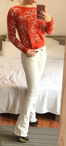 Armani Exchange Jeans Skinny Bootcut Hose Gr. 26 weiß Damen Jeans denim