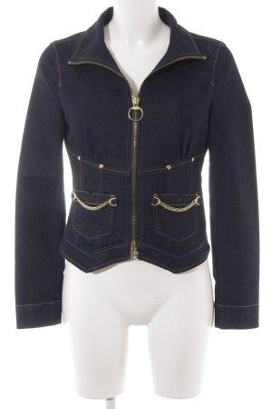 Armani Exchange Jeansjacke dunkelblau extravaganter Stil