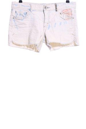 Armani Exchange Jeansshorts wollweiß-blau Casual-Look