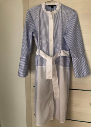 Armani Exchange Longsleeve Dress white-azure cotton