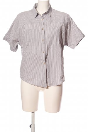 Armani Exchange Short Sleeve Shirt light grey-white striped pattern