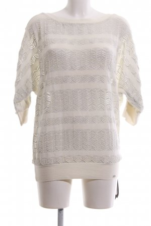 Armani Exchange Short Sleeve Sweater natural white-light grey allover print