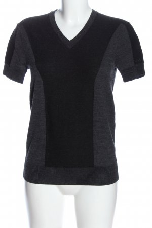 Armani Exchange Short Sleeve Sweater light grey-black flecked casual look