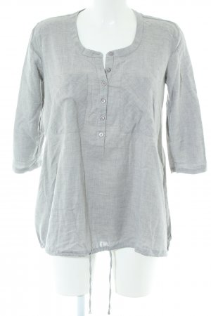 Armani Exchange Long Sleeve Blouse light grey flecked casual look
