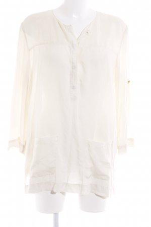 Armani Exchange Long Sleeve Blouse pale yellow business style
