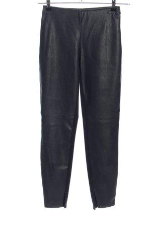Armani Exchange Pantalón de cuero negro estilo extravagante