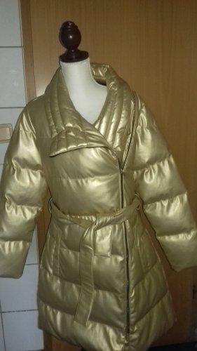 Armani Abrigo acolchado color oro Imitación de cuero