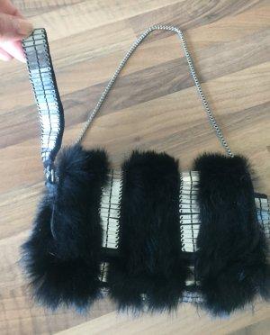 AX ARMANI EXCHANGE Mini Bag black-silver-colored pelt