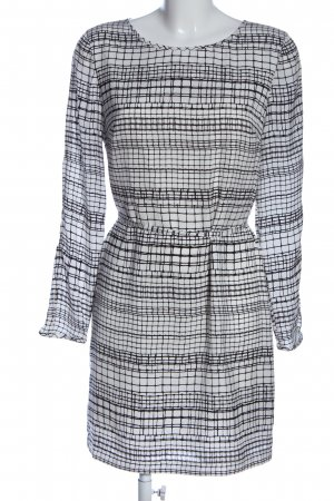 Armani Exchange Minikleid weiß-schwarz abstraktes Muster Casual-Look