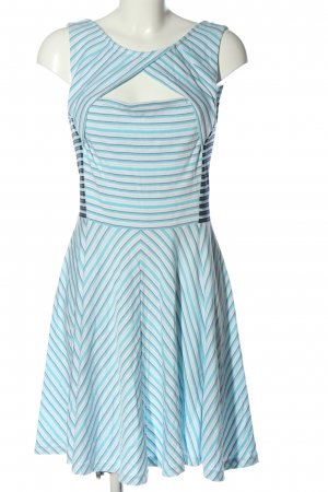 Armani Exchange Sukienka mini turkusowy-biały Wzór w paski W stylu casual