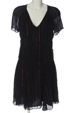 Armani Exchange Mini Dress black striped pattern elegant