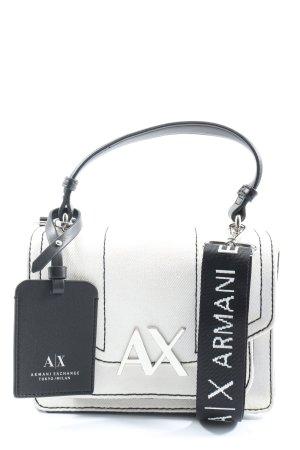 Armani Exchange Torebka mini biały-czarny Nadruk z motywem W stylu casual