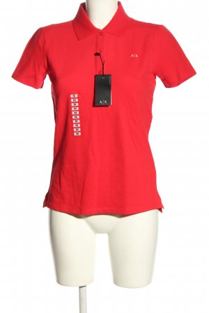 Armani Exchange Polo rouge style décontracté