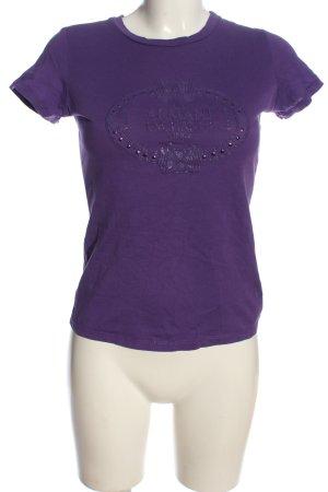 Armani Exchange Shirt met print lila prints met een thema casual uitstraling