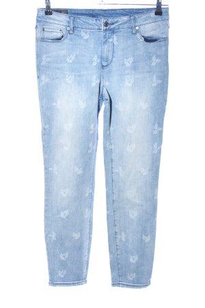 Armani Exchange Skinny Jeans blue flower pattern casual look