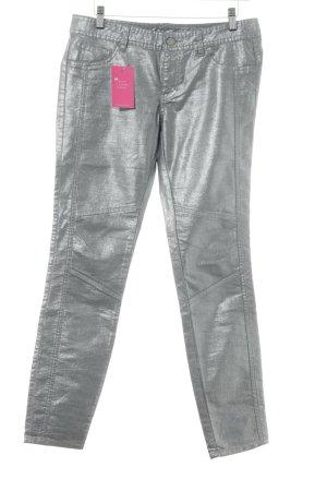 Armani Exchange Jeans skinny argenté style festif
