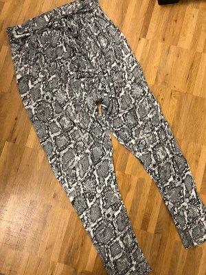 Armani Exchange Harem Pants white-black