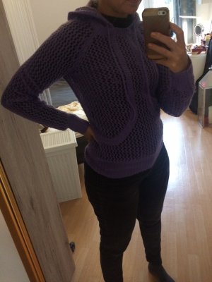 Armani Exchange Knitted Sweater purple-lilac