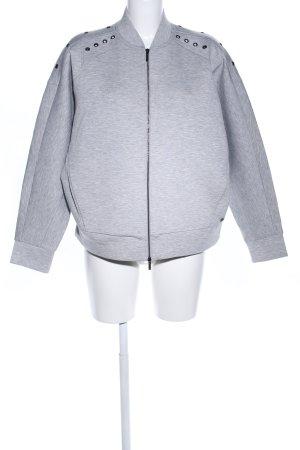 Armani Exchange Sweat Jacket light grey flecked casual look