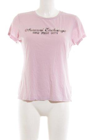 Armani Exchange T-Shirt pink Schriftzug gedruckt Casual-Look