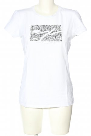Armani Exchange T-Shirt weiß Schriftzug gedruckt Casual-Look
