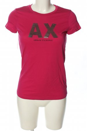 Armani Exchange T-Shirt pink printed lettering casual look