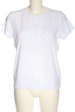 Armani Exchange T-shirt wit geborduurde letters casual uitstraling