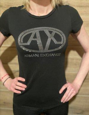 Armani Exchange T-shirt noir-argenté