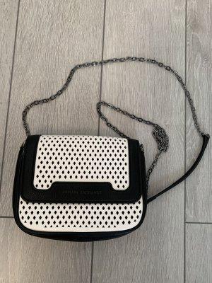 Armani Exchange Sac à main blanc-noir