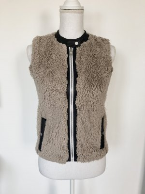 Armani Exchange Fur vest beige