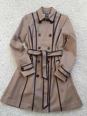 Armani Exchange Trenchcoat, khaki mit blauen Streifen, Gr. XL / 42