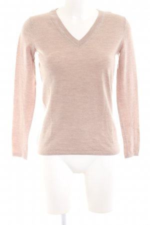 Armani Exchange V-Ausschnitt-Pullover pink meliert Casual-Look