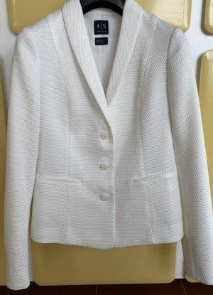 Armani Klassischer Blazer biały-w kolorze białej wełny