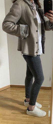 Armani Collezioni Fur Jacket grey-anthracite