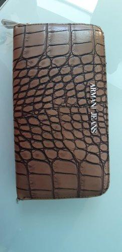 Armani Portefeuille brun-brun foncé