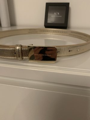 Armani Exchange Ceinture en cuir doré