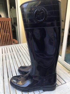 Armani Gumowe buty ciemnoniebieski