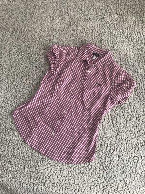 Armani Shirt met korte mouwen wit-donkerpaars