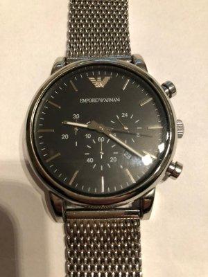 Armani Reloj con pulsera metálica color plata