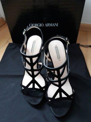 Armani Pumps met bandjes zwart Leer