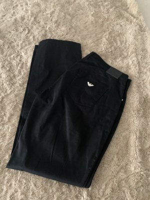 Armani Jeans pantalón de cintura baja negro