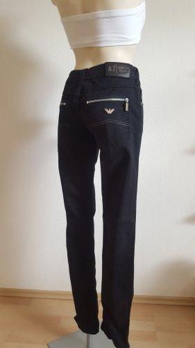 Armani Low-Rise Trousers black cotton