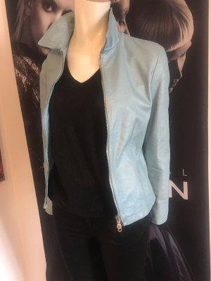 Armani Hose Schwarz Jones Shirt und ital Designer Leder Jacke Small
