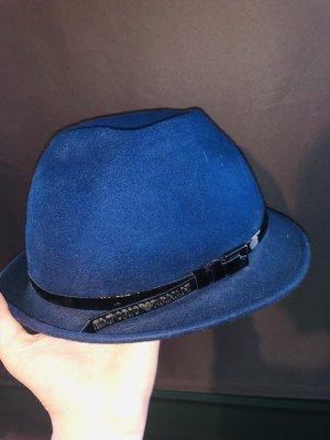 Emporio Armani Chapeau en feutre bleu-noir