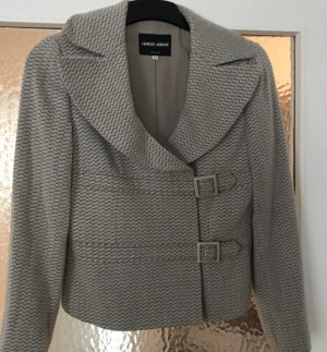 Armani Collezioni Pea Jacket grey brown-oatmeal