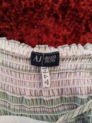 Armani Jeans Cut out top wit-grijs-groen
