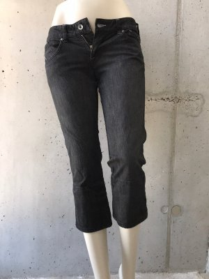 Armani 3/4 Length Jeans black-silver-colored
