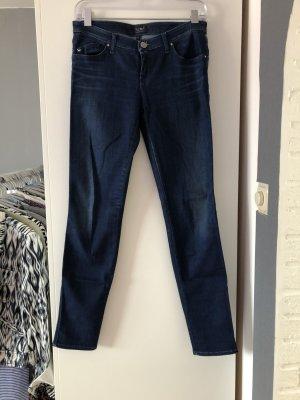 Armani Jeans taille basse bleu coton